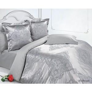Комплект постельного белья Ecotex Евро, сатин-жаккард, Миледи (4650074952420) комплект постельного белья ecotex евро сатин жаккард аметист кэмчаметист