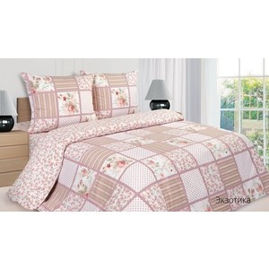цена Комплект постельного белья Ecotex Евро, поплин, Экзотика (4650074954196) онлайн в 2017 году