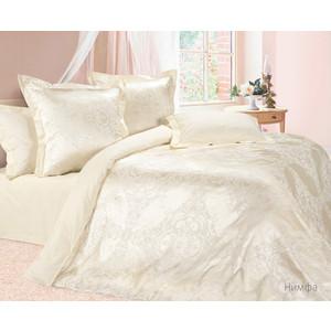 цена Комплект постельного белья Ecotex Евро, сатин-жаккард, Нимфа (4670016956590) онлайн в 2017 году