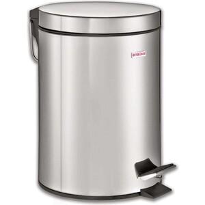 Ведро-контейнер для мусора (урна) с педалью Лайма Classic 5л зеркальное, нержавеющая сталь 232260