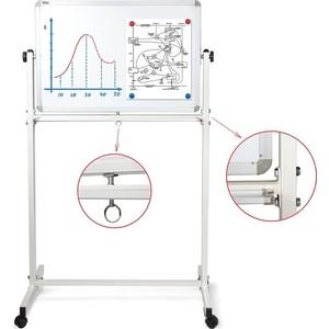 цена на Доска магнитно-маркерная BRAUBERG Двусторонняя 60x90 см на стенде алюминиевая рамка 231717