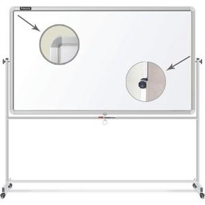 Доска магнитно-маркерная BRAUBERG Двусторонняя 90x120 см на стенде алюминиевая рамка 231718