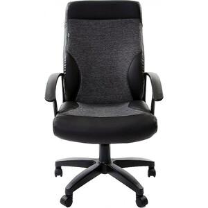 цена Кресло офисное Brabix Trust EX-535 экокожа черная ткань серая 20-23 531383 онлайн в 2017 году