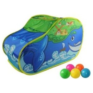 Палатка игровая Наша Игрушка Чудо Кит, в комплекте пластмассовые шарики 20 шт., сумка на молнии