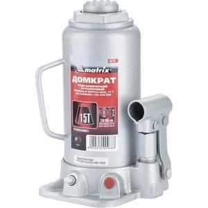 Домкрат гидравлический бутылочный Matrix 15т 230-460мм Master (50729)