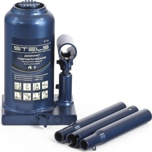 Домкрат гидравлический бутылочный телескопический Stels 4т 170-420мм (51116)