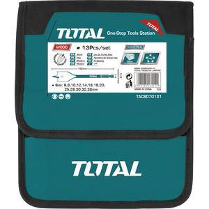 Набор перьевых сверл TOTAL 13шт (TACSD70131) набор сверл практика 031 297 металл 13шт 1 5 6 5мм в мет кассете сделай сам