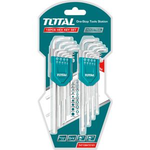 Набор ключей имбусовых TOTAL 18шт (THT106KT0181)