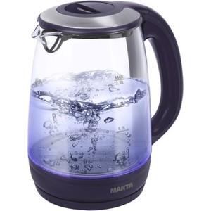 Чайник электрический Marta MT-1094 темный топаз чайник электрический marta mt 1096 серебряный сапфир