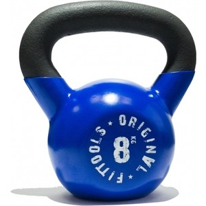 Гиря Original FitTools 8 кг обрезиненная синяя