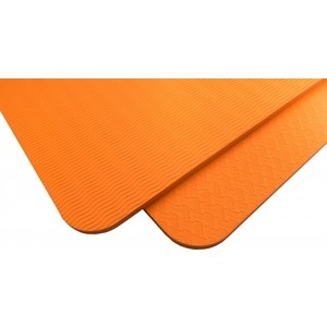 Коврик для йоги Original Fit.Tools 8 мм однослойный оранжевый
