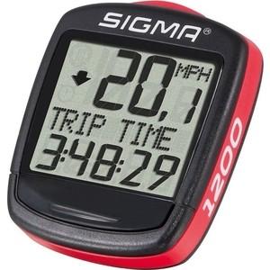 цена на Велокомпьютер Sigma BC 1200, BASELINE, 01950,12 функций, проводной, красно\черный