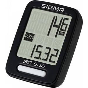 цена на Велокомпьютер Sigma BC 5.16,05160,5 функций, проводной, черный