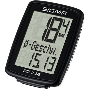 Велокомпьютер Sigma BC 7.16, 07160, 7 функций, проводной, черный