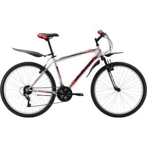 Велосипед Challenger Agent Lux 26 серебристо-красный 18''