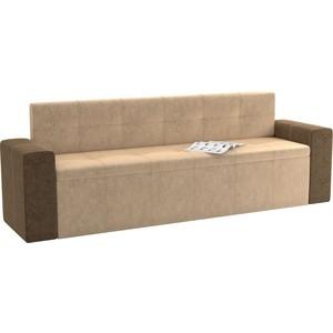 Кухонный диван Мебелико Династия микровельвет бежево-коричневый