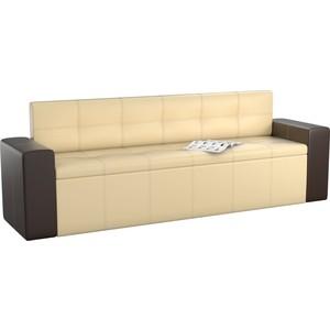 Кухонный диван Мебелико Династия эко-кожа бежево-коричневый