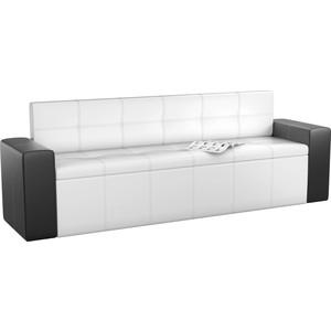 Кухонный диван Мебелико Династия эко-кожа бело-черный