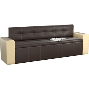 Кухонный диван Мебелико Династия эко-кожа коричнево-бежевый