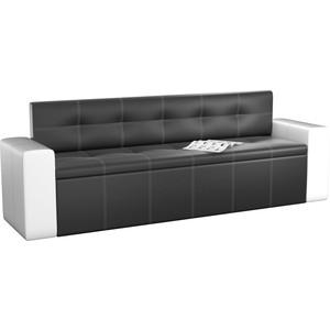 Кухонный диван Мебелико Династия эко-кожа черно-белый