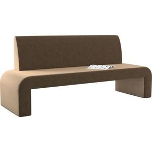 Кухонный диван АртМебель Кармен микровельвет бежево-коричневый