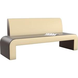 Кухонный диван Мебелико Кармен эко-кожа коричнево-бежевый