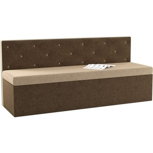 Кухонный диван Мебелико Салвадор микровельвет бежево-коричневый