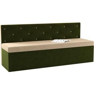Кухонный диван Мебелико Салвадор микровельвет бежево-зеленый