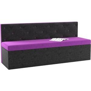 Кухонный диван АртМебель Салвадор микровельвет фиолетово-черный