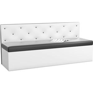 Кухонный диван Мебелико Салвадор эко-кожа черно-белый