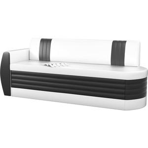 Кухонный диван Мебелико Токио ОД эко-кожа бело-черный левый кушетка мебелико принц эко кожа бело черный левый