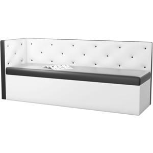 Кухонный угловой диван Мебелико Салвадор эко-кожа черно-белый левый угол кухонный угловой диван мебелико салвадор эко кожа черно белый левый угол