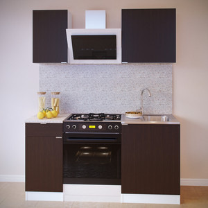 Кухня СОКОЛ ТК-06м белый/венге + ПН-06 белый/венге + ТК-04.1 белый/венге + ПН-04 белый/венге aquaton логика 110 венге белый