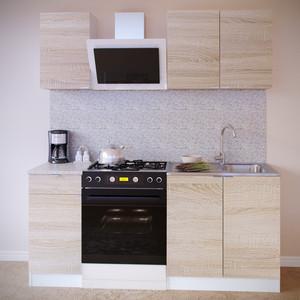 Кухня СОКОЛ ПН-04 белый/дуб сонома +ТК-04.1 + ПН-08 ТК-08м