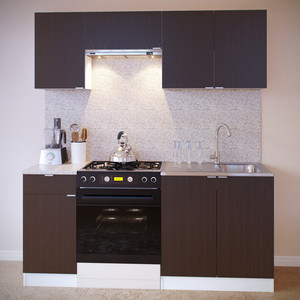 Кухня СОКОЛ ПН-04 белый/венге + ТК-04.1 белый/венге + ПН-06.2 белый/венге + ПН-08 белый/венге + ТК-08м белый/венге aquaton логика 110 венге белый
