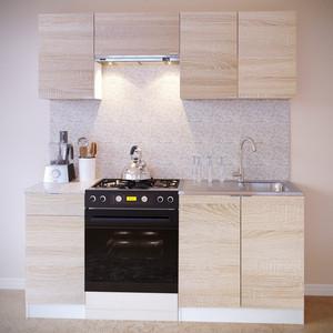 Кухня СОКОЛ ПН-04 белый/дуб сонома + ТК-04.1 ПН-06.2 ПН-08 ТК-08м