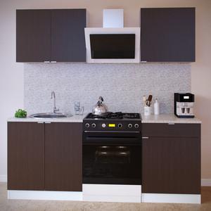 Кухня СОКОЛ ПН-08 белый/венге + ТК-08м белый/венге + ПН-06 белый/венге + ТК-06.1 белый/венге aquaton логика 110 венге белый