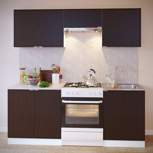Кухня СОКОЛ ПН-08 белый/венге + ТК-08 белый/венге + ПН-06.2 белый/венге + ПН-06 белый/венге + ТК-06м белый/венге aquaton логика 110 венге белый