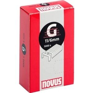 Скобы для степлера Novus 11/6 5000шт (042-0527)