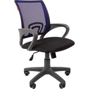 Офисноекресло Chairman 696 серый пластик TW-12/TW-05 синий