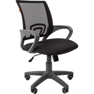 Офисноекресло Chairman 696 серый пластик TW-12/TW-01 черный офисное кресло chairman 610 черный серый