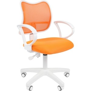 Офисноекресло Chairman 450 LT белый пластик TW-16/TW-66 оранжевый цена и фото