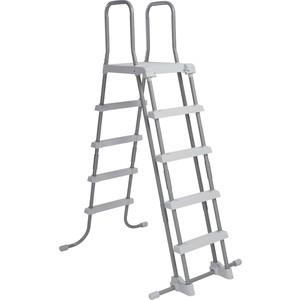 Лестница для бассейнов Intex до 132 см 4 ступеньки с площадкой защитой 28077