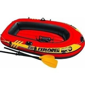 Лодка надувная Intex Explorer Pro 200 Set 196х102х33 см с пластиковыми веслами и насосом 58357