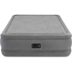 цена на Надувная кровать Intex Foam Top Airbed 152х203х51 см встроенный насос 220V (64470)