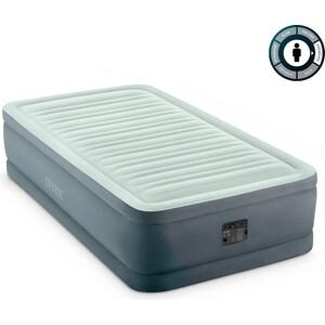 Надувная кровать Intex Premaire Elevated Airbed 99х191х46 см встроенный насос 220V (64902) цена