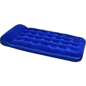 Надувной матрас Bestway Easy Inflate Flocked Air Bed(Twin) 188х99х28 см встроенный ножной насос 67224