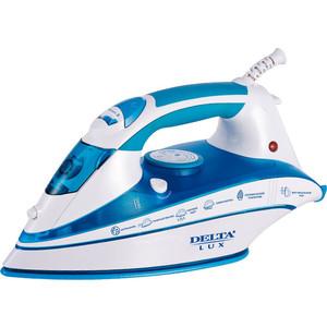 Утюг Delta LUX DL-556 белый с синим delta lux эл духовка delta с теном пов мощ 25а белая с функц приготовления шашлыка