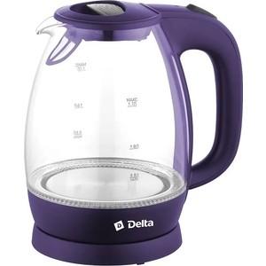 Чайник электрический Delta DL-1203 фиолетовый цена 2017