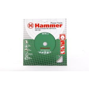 Диск алмазный Hammer 206-105 DB SG 230x22 мм диск алмазный sparta turbo 230x22 2 мм 731275